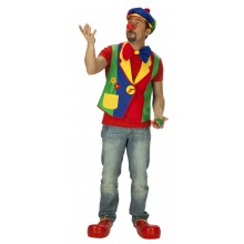 Clown vest verkleedkleding heren
