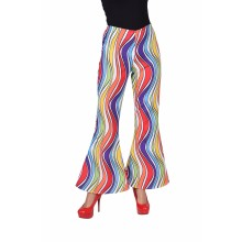 Hippie broek dames rainbow waves