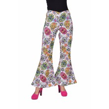 Hippie broek dames mexican skulls