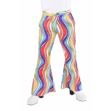 Hippie broek heren rainbow waves