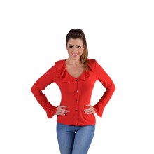 Jersey bloes dames rood