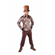 Steampunk hemd heren