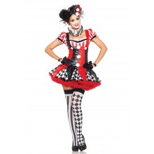 Harlequin Clown kostuum dames