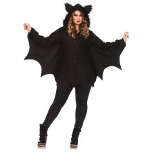 Cozy Bat kostuum dames plus