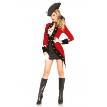 Rebel Pirate Red Coat kostuum dames