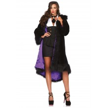 Deluxe faux fur coat kostuum dames