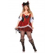 Shapewear Costume Pirate kostuum dames plus