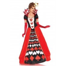 Deluxe Queen Of Hearts kostuum dames