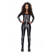 X-Ray Skeleton Catsuit kostuum dames