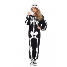 Cozy Skeleton Onesie kostuum dames