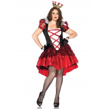 Royal Red Queen kostuum dames plus