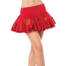 Petticoat satin trimmed rood