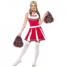Cheerleader kostuum dames rood