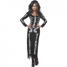 Skelet halloween kostuum dames